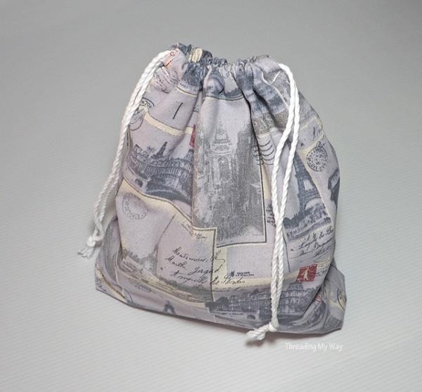 Tutorial: How to sew a drawstring bag