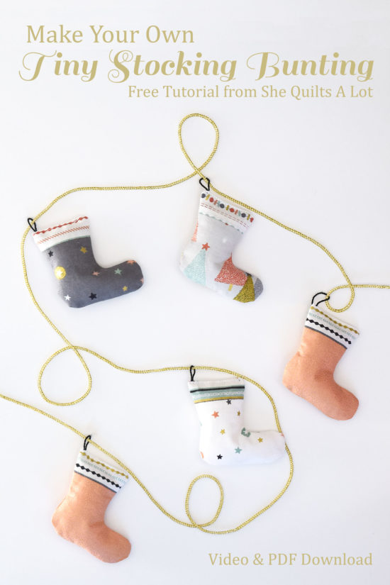 Tutorial: Patchwork stocking bunting
