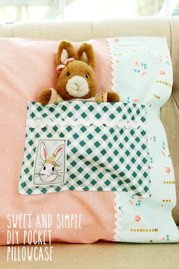 Diy Pillowcase With Pocket: Tutorial  Pocket pillowcase – Sewing,