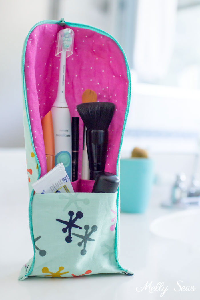 Tutorial: Stand up toothbrush travel case