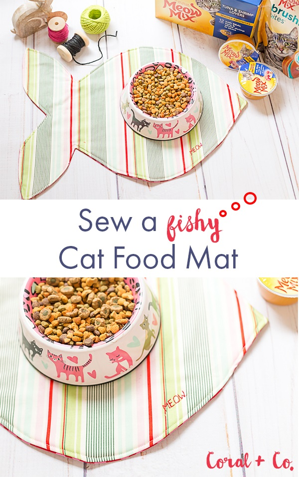 Tutorial: Cat food mat shaped like a fish