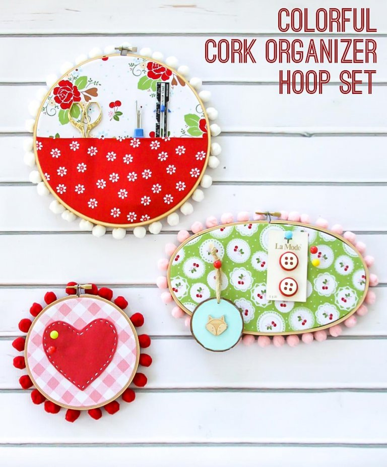 Tutorial embroidery hoop sewing organizer set