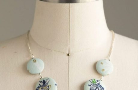 Tutorial: Covered button necklace