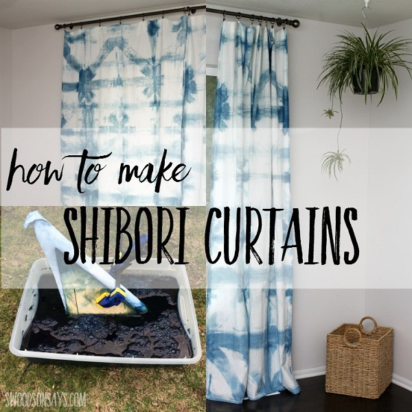 Tutorial: Shibori indigo dyed curtains