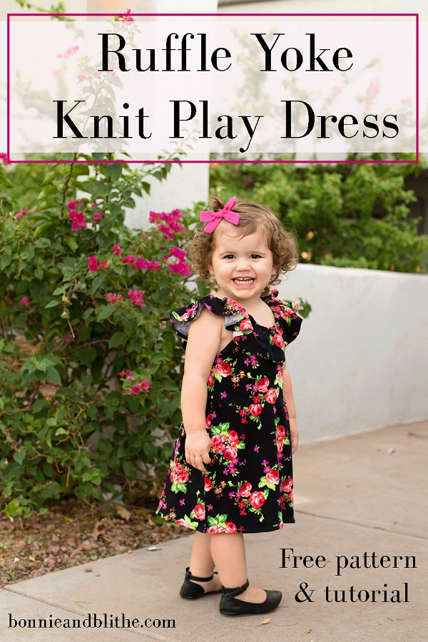 Tutorial and pattern: Little girl's ruffle shoulder play dress