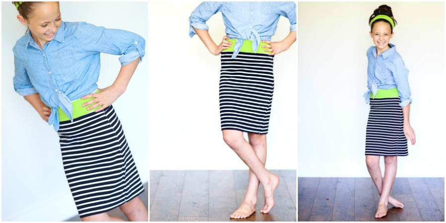 Tutorial: Easy 10-minute t-shirt skirt