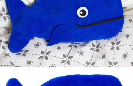 Tutorial: Whale hot water bottle cover