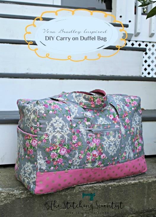 Free Duffle Bag : duffle, Tutorial, Pattern:, Carry, Duffel, Sewing