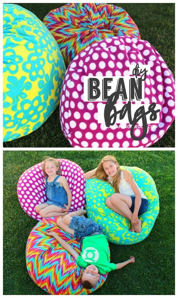 Tutorial Fleece bean bag 2 ways