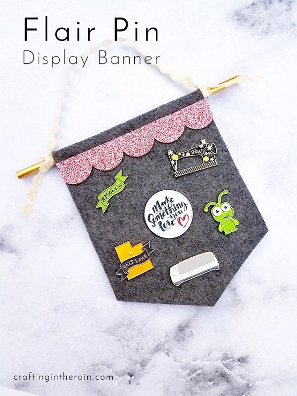 Tutorial: No-sew felt flair pin banner