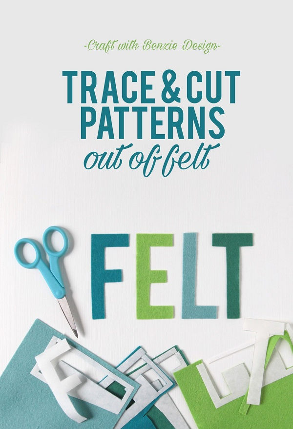 Tutorial: How to trace and cut designs from felt