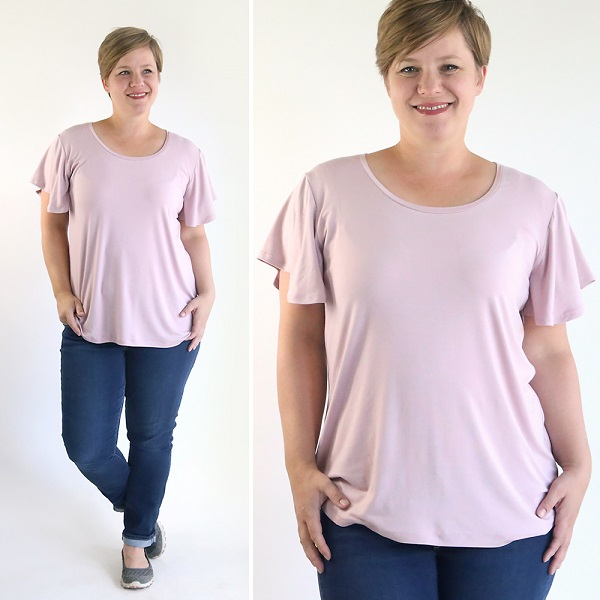 Tutorial and pattern: Women's flutter sleeve t-shirt