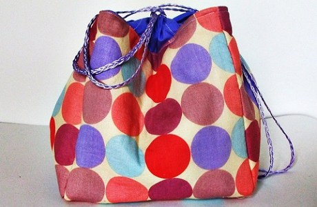 Tutorial: Sew a kinchaku Japanese drawstring bag