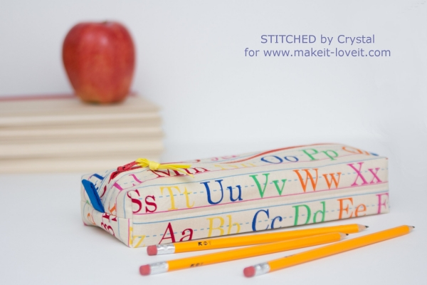 Tutorial Boxy pencil pouch for back-to-school