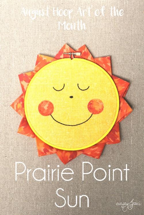 Tutorial and pattern: Prairie point sun hoop art