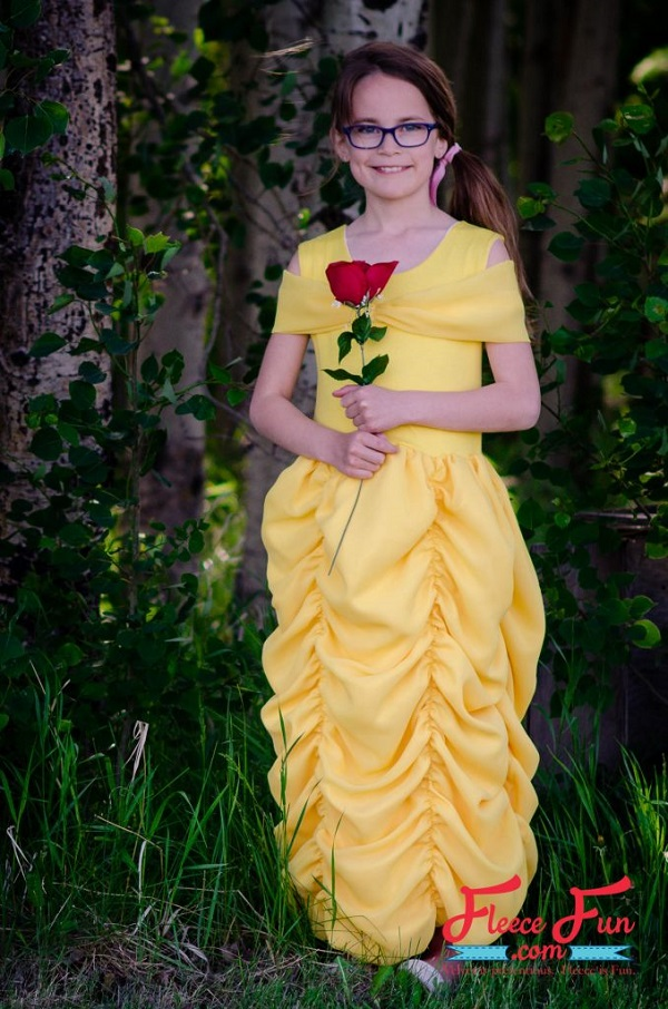 Tutorial Beauty and the Beast Belle costume dress