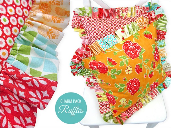 Tutorial: Throw pillows with charm pack ruffles