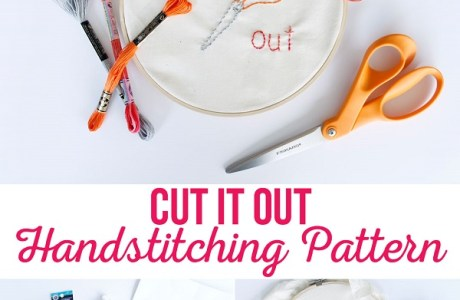 Tutorial and pattern: Cut It Out embroidery pattern