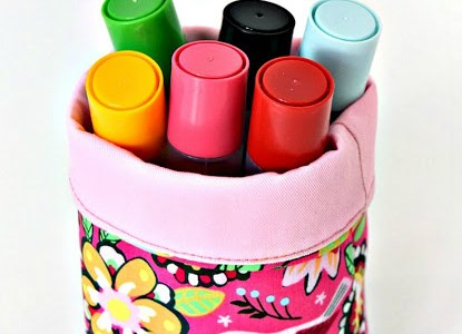 Tutorial: Mini fabric buckets