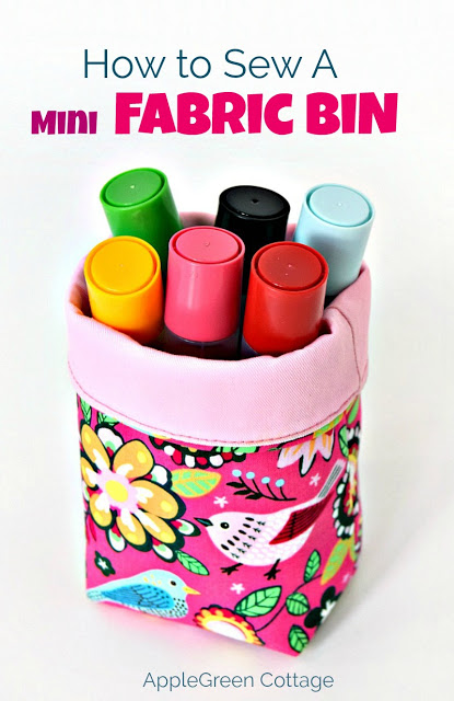 Tutorial: Mini fabric buckets