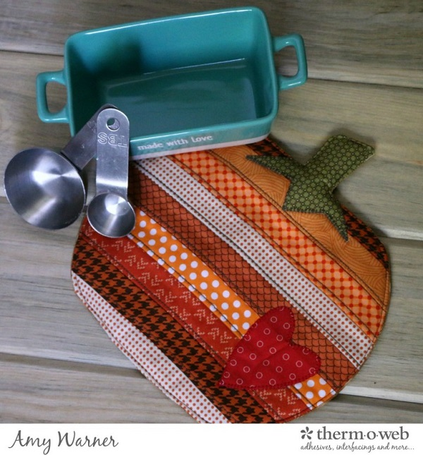Tutorial: Patchwork pumpkin potholder
