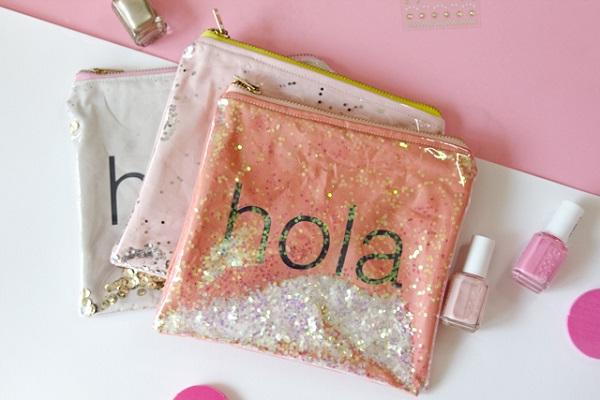 Tutorial: Glitter window zip pouch
