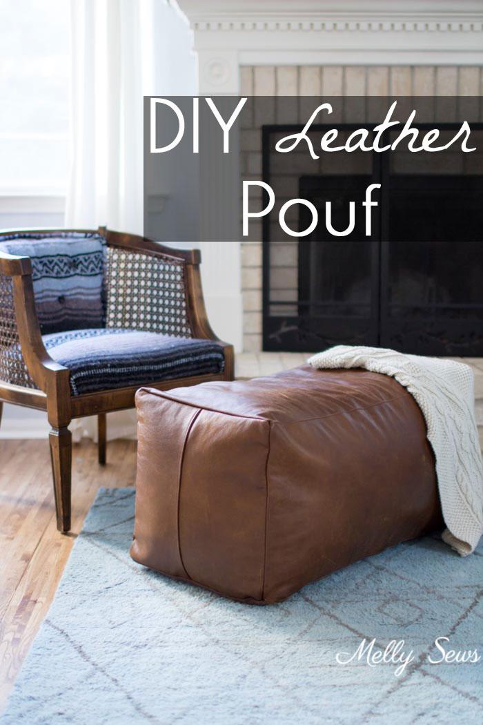 Tutorial diy leather ottoman sewing tutorial diy leather ottoman solutioingenieria Gallery