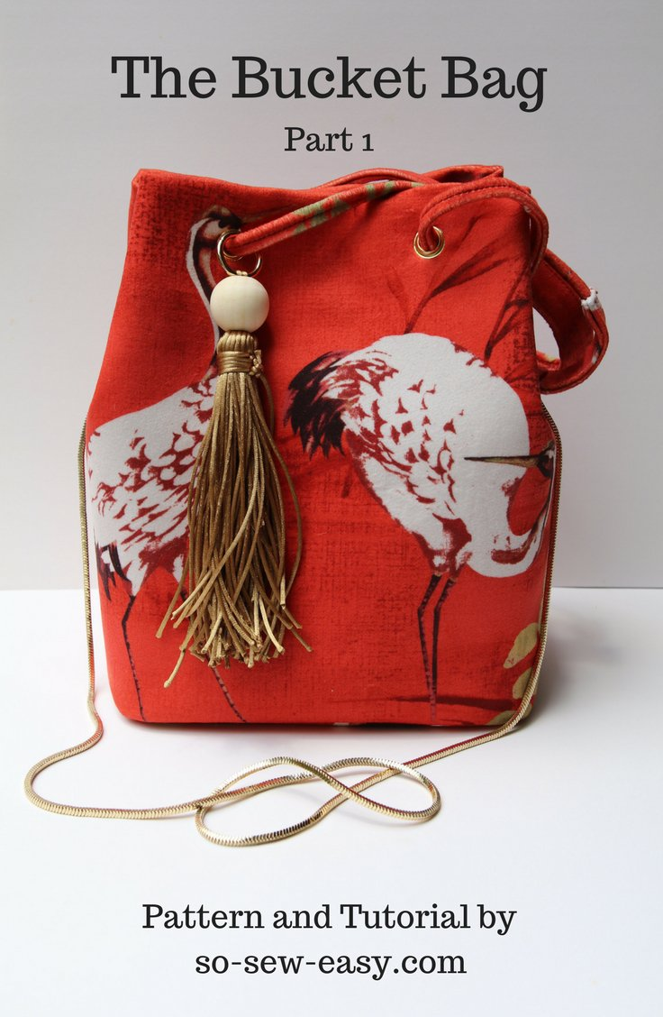Tutorial And Pattern Bucket Bag Sewing