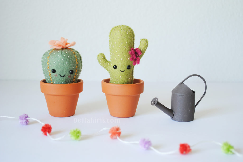 Felt Cactus In A Pot Art Project
