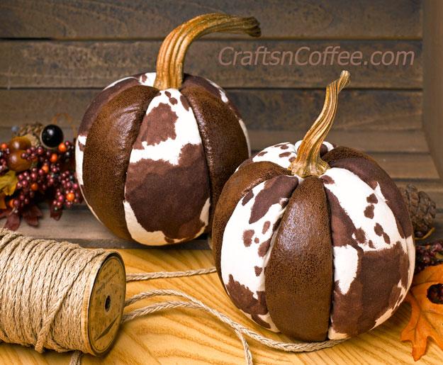 Tutorial No Sew Cowhide Pumpkins Sewing
