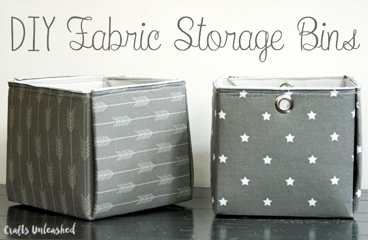 Tutorial: Fat quarter fabric storage bins
