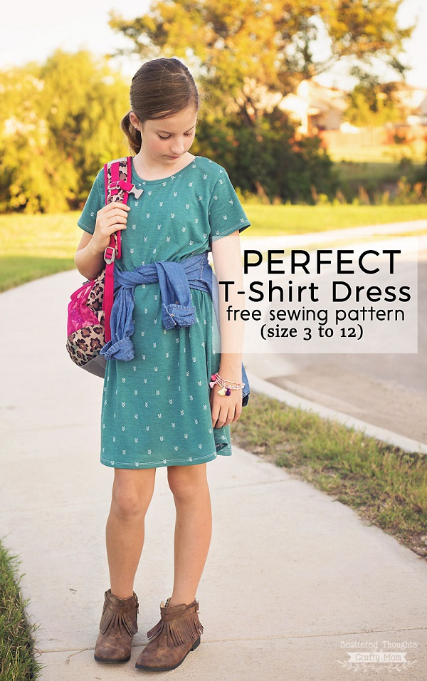 Tutorial and pattern: Perfect T-Shirt Dress for girls