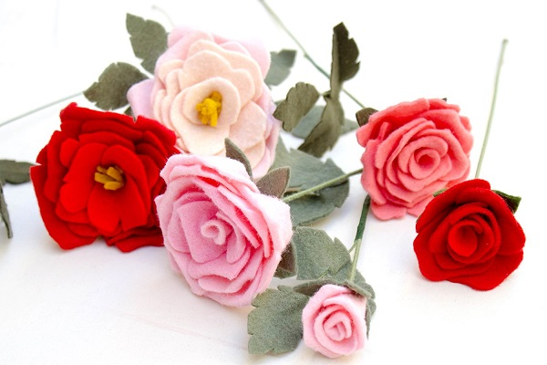 Tutorial: Scrap felt roses