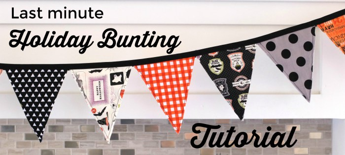 Tutorial: Easy last minute bunting banner