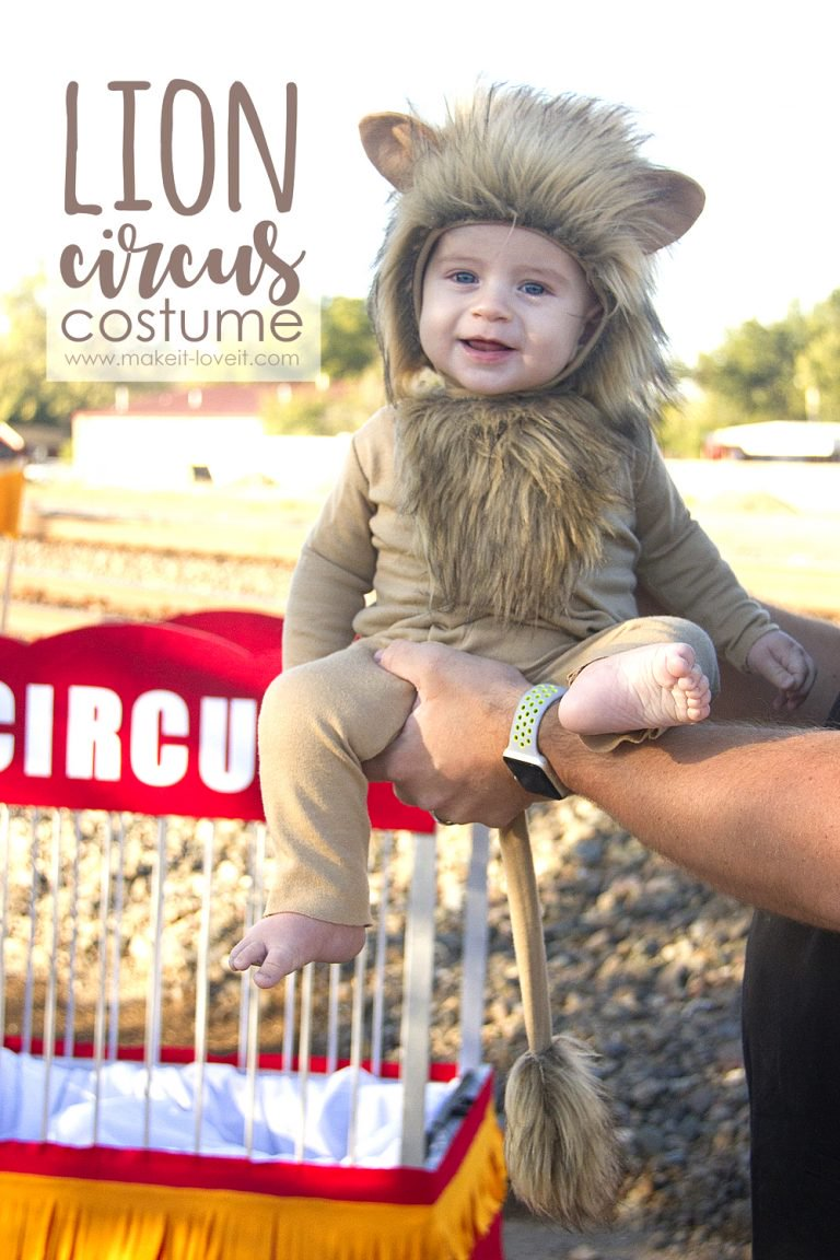 Tutorial: Circus lion Halloween costume for baby