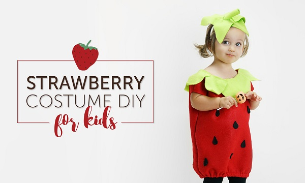 Tutorial: Strawberry Halloween costumes for the whole family