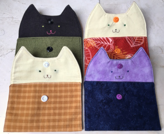 Tutorial: Little kitty snap pouches