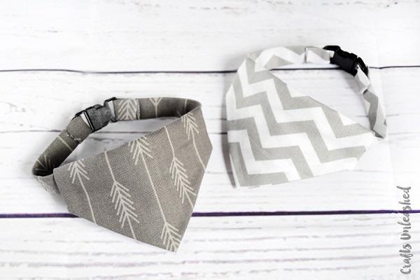 Tutorial: No-sew bandana dog collar