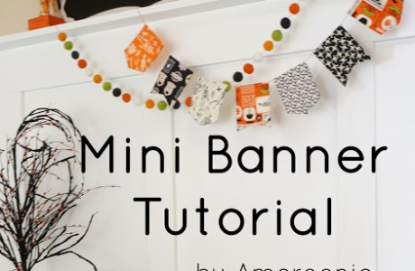 Tutorial: Cute mini fabric banners