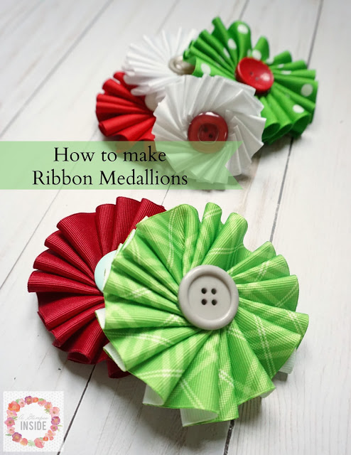 Tutorial: Gathered ribbon medallions