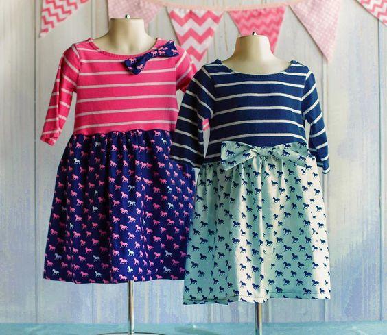 Tutorial: Girls t-shirt dresses