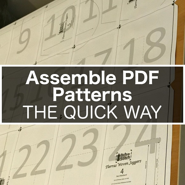Tutorial: Easy and quick way to assemble PDF sewing patterns