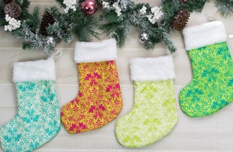 Tutorial and pattern: Fur lined Christmas stocking