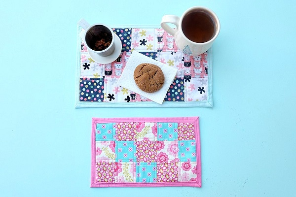 Tutorial: Patchwork mug rug