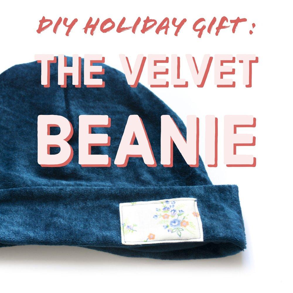 Tutorial and pattern: Velvet beanie hat