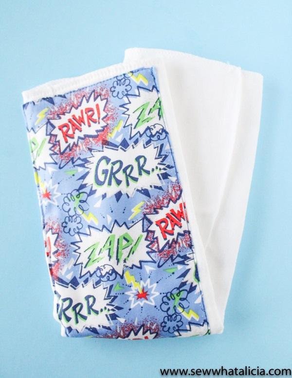 Tutorial: Easy baby burp cloth