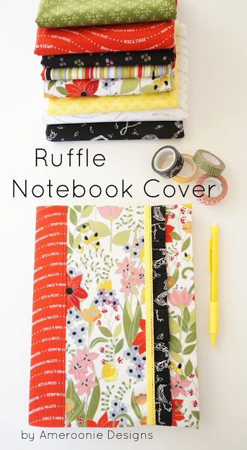 Tutorial: Ruffle fabric notebook cover