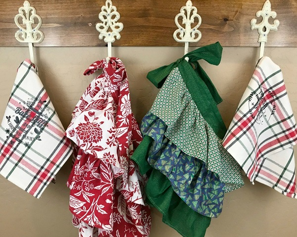 Tutorial: Farmhouse style ruffle apron and kitchen towel