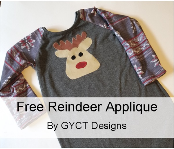 Tutorial and pattern: Sleepyhead Nightgown with a reindeer applique