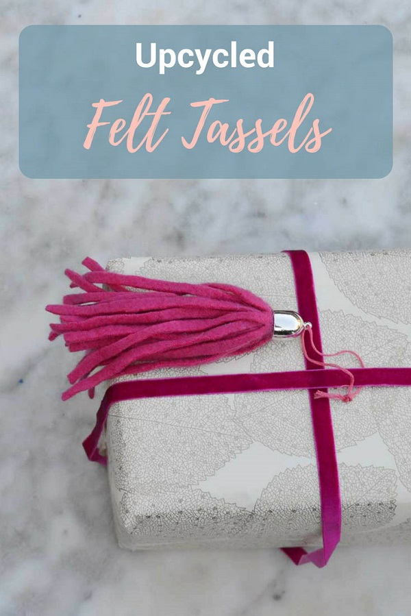 Tutorial: Upcycled felted sweater tassels